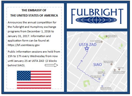 the Fulbright and Humphrey exchange programs from December 1, 2016 to January 31, 2017