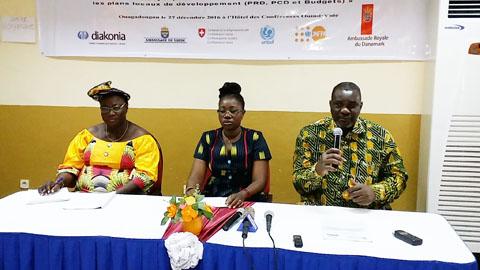 Promotion du genre: Plaider pour une prise en compte dans les plans de développement locaux