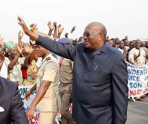 Le Président du Faso à l'investiture du nouveau Président du Ghana
