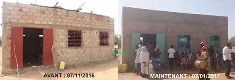 Ecole primaire en finition de Labretenga: Le généreux donateur est allé visiter l'infrastructure