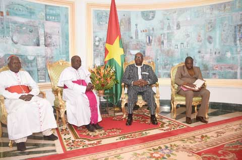 Les Evêques de la Conférence épiscopale Burkina-Niger chez le Président du Faso