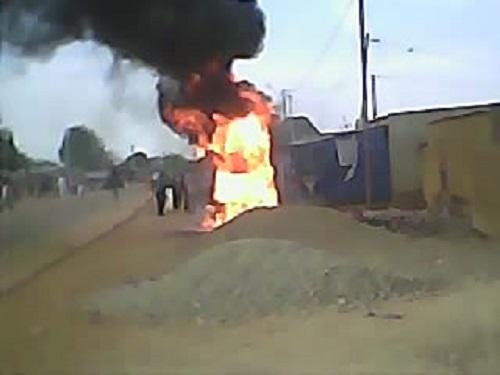 Fada N'Gourma: Incendie dans un dépôt d'hydrocarbure