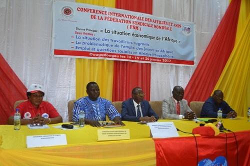 Fédération syndicale mondiale: Le monde du travail en débats à Ouagadougou
