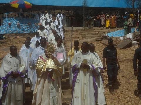 Pèlerinage à Dingasso: Les fidèles catholiques ont prié pour l'unité et la paix