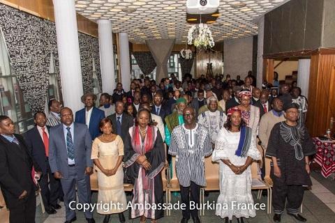 An 2017: Les Burkinabè vivant en France se sont présenté les vœux