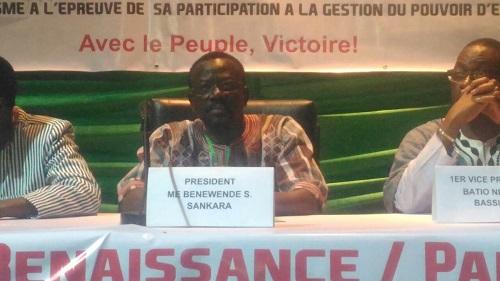 UNIR /PS: Me Sankara reconduit, les congressistes réaffirment leur alliance avec le MPP