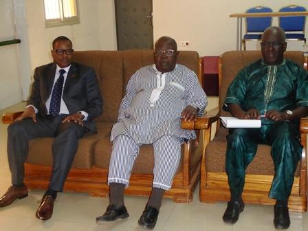 Newton Ahmed Barry au siège de la fédération des églises et missions évangéliques
