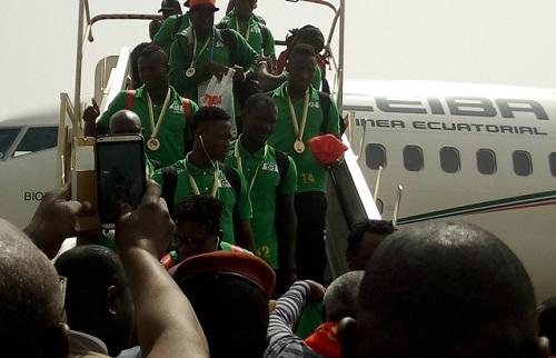 Retour des Etalons: Les ''Boys'' accueillis en héros  à Ouagadougou