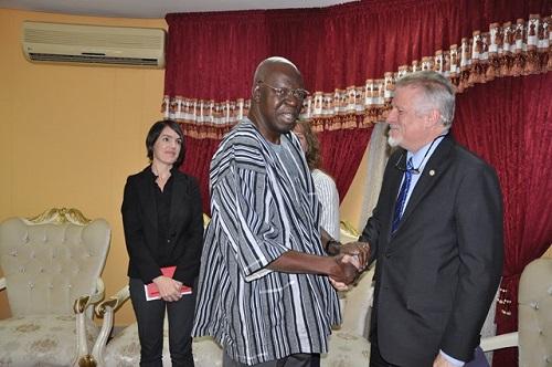 Coopération Burkina-USA: L'ambassadeur Andrew Young parle sécurité et développement avec Salifou Diallo