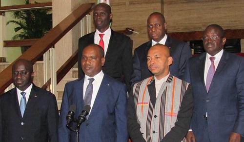 Alpha BARRY et Tahirou BARRY porteurs de messages de soutien et d'invitation du Président du Faso à son homologue ivoirien