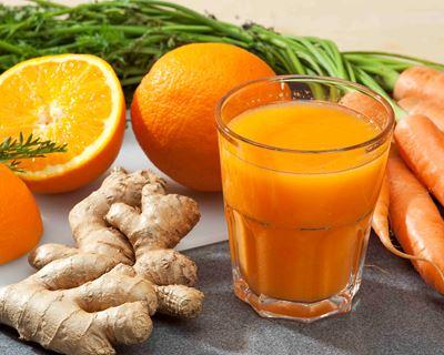 Recette du Weekend: Jus de carotte, d'orange et de gingembre frais.