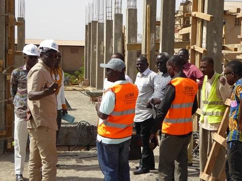 Université Polytechnique de Bobo: Le DG de la LONAB visite le chantier de construction d'un bâtiment au profit de l'établissement
