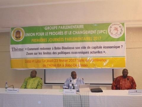 Journées parlementaires de l'UPC: La question de la relance économique de Bobo-Dioulasso au cœur des débats.