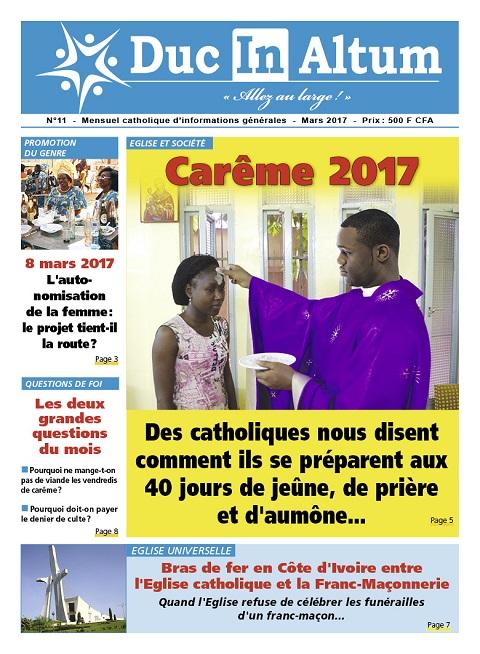 Duc In Altum: Votre mensuel catholique d'informations générales de mars 2017