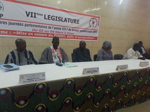Journées parlementaires MPP: Les députés du parti majoritaire se penchent sur la mise en œuvre du PNDES
