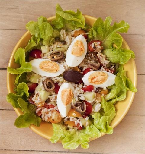 Recette du week end: Salade de riz étuvé