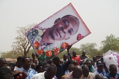 Inhumation de Désiré Zida: «Partir à 56 ans, c'est très cruel»