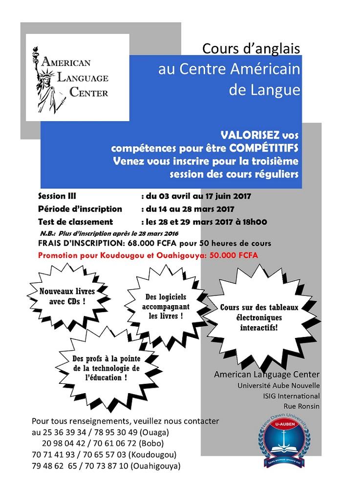 Cours d'anglais au Centre Américain de Langue: VALORISEZ vos compétences pour être COMPÉTITIFS