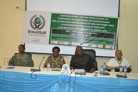 Symposium international sur le Dialogue des religions et des cultures: Des recommandations fortes pour promouvoir la paix en Afrique