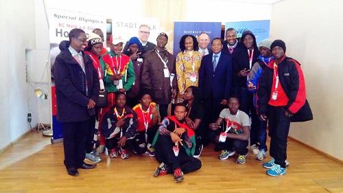 Jeux mondiaux d'hiver de Special Olympics: Son Excellence KERE encourage les athlètes burkinabè