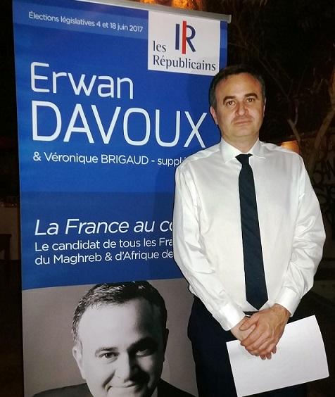 Législatives françaises: Le candidat Erwan Davoux en campagne à Ouagadougou