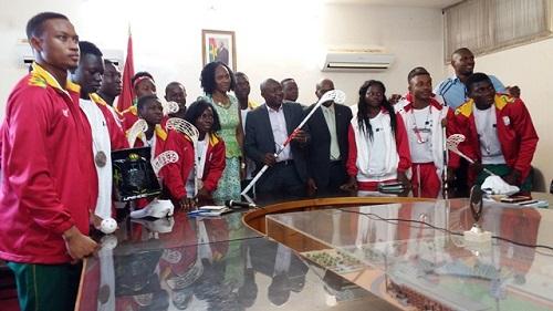 Special Olympics: Taïrou Bangré reçoit les athlètes médaillés d'argent aux Jeux mondiaux