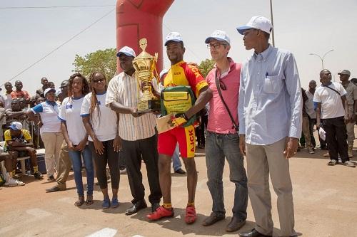 2ème édition de la Course cycliste PeriSan: Seydou Bamogo vainqueur pour la deuxième fois