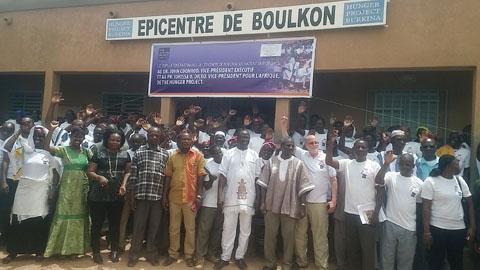 The hunger project Burkina: Le 20e anniversaire célébré dans l'épicentre de Boulkon