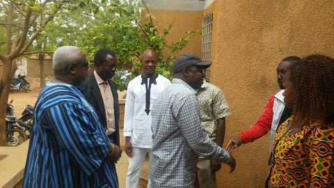 Sport: Le ministre Tairou Bangré inspecte les infrastructures sportives de Fada