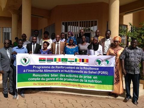 Programme de renforcement de la résilience à l'insécurité alimentaire et nutritionnelle au sahel: Ouverture de la rencontre  bilan  des activités de prise  en compte du genre et de promotion de la nutrition