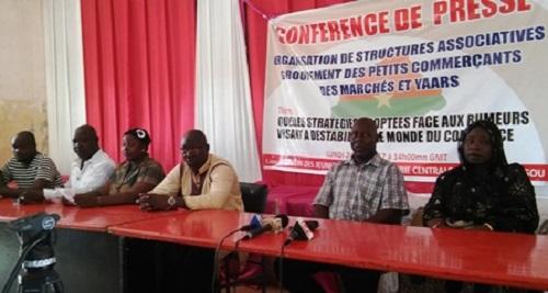Protestation  des acteurs du commerce: Le groupement des petits commerçants refuse les manipulations