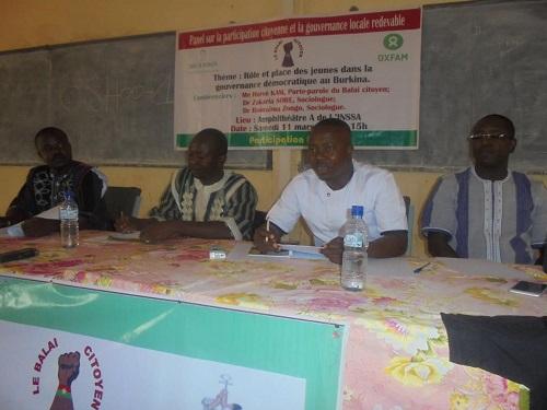 Panel du Balai citoyen à Bobo: La participation de la jeunesse à la gouvernance démocratique au menu