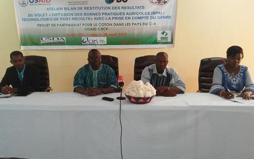 Projet de partenariat pour le coton dans les pays du C4: L'UNPC-B a présenté les résultats des travaux engrangés