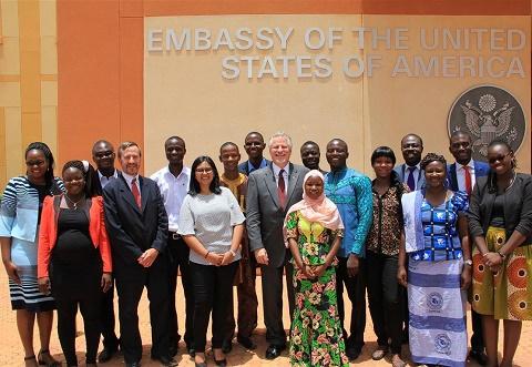 Programme YALI: Andrew Young a rencontré les 15 «ambassadeurs» burkinabè
