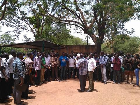 Ministère des infrastructures: Les agents en sit-in illimité