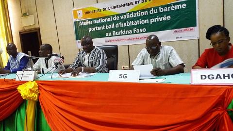 Ministère de l'urbanisme et de l'habitat: Vers l'adoption d'un barème de référence du bail d'habitation privée au Burkina Faso