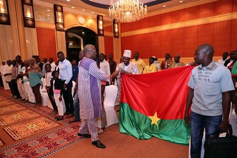 Le Président du Faso échange avec ses compatriotes du Qatar