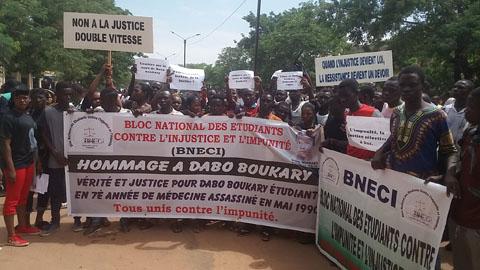 Dabo Boukary 27 ans après: Des étudiants en sit-in pour réclamer justice