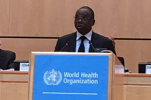 Déclaration  de monsieur le ministre de la santé lors de la 70ème session de l'Assemblée mondiale de la santé