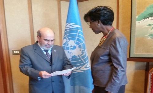 Présentation des lettres de cabinet de son excellence Madame Joséphine Ouédraogo à la FAO