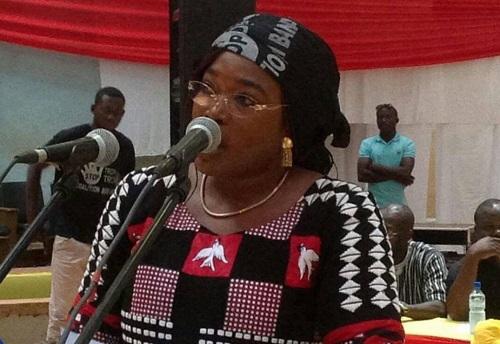 Coalition Bori Bana: «Le paysage économique du Burkina est catastrophique, n'en déplaise au premier ministre Paul Kaba et son gouvernement …», porte-parole, Safiatou Lopez