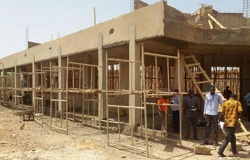 Infrastructures du site de l'Université Ouaga II: Entre 29,68% et 36,89% d'exécution des travaux