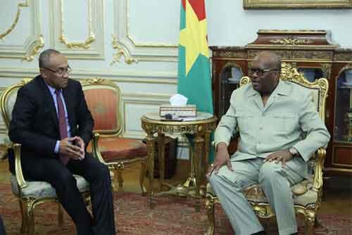Le Président du Faso réaffirme son soutien au nouveau président élu de la CAF