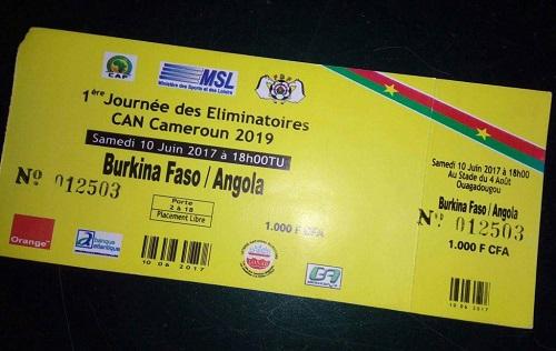 Match Burkina Angola: un réseau de vente de faux billets d'entrée au stade a été découvert