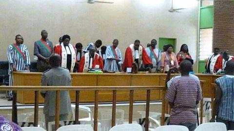 Procès de l'insurrection populaire: La Haute Cour de Justice va surseoir au jugement du gouvernement TIAO