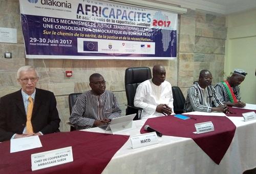 Forum Africapacités 2017: Vers une justice transitionnelle pour une consolidation démocratique au Burkina Faso