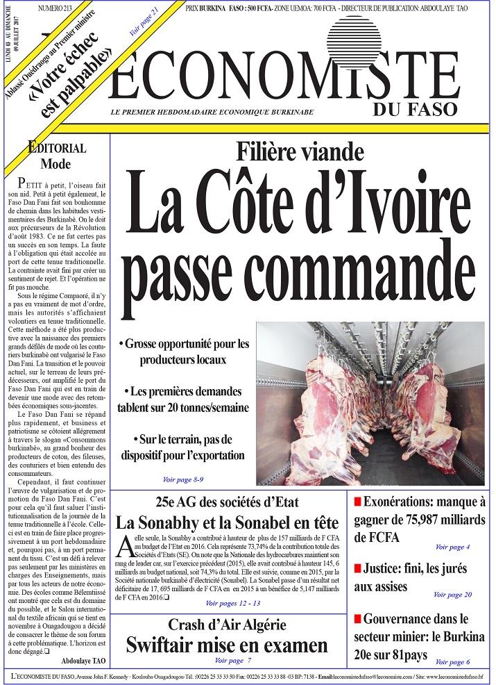 UNE L'Economiste du Faso 213