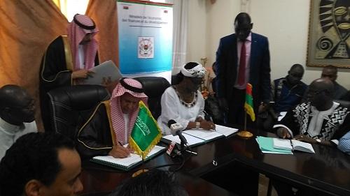 Ministère de l'économie, des finances et du développement: Le Fonds Saoudien de Développement  apporte 25 milliards de Francs CFA pour le développement du Burkina