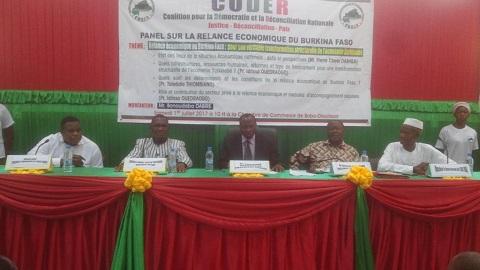 Relance économique du Burkina Faso: La CODER apporte sa contribution à la réflexion nationale