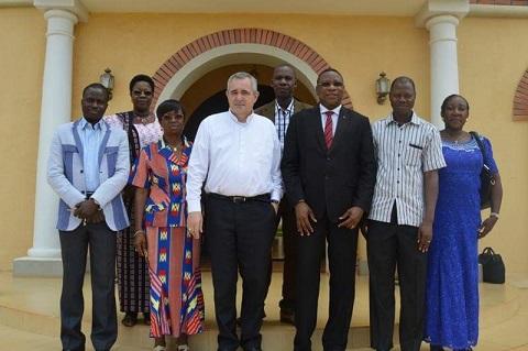 Eglise catholique: L'Union catholique africaine de la presse section Burkina chez le Nonce apostolique